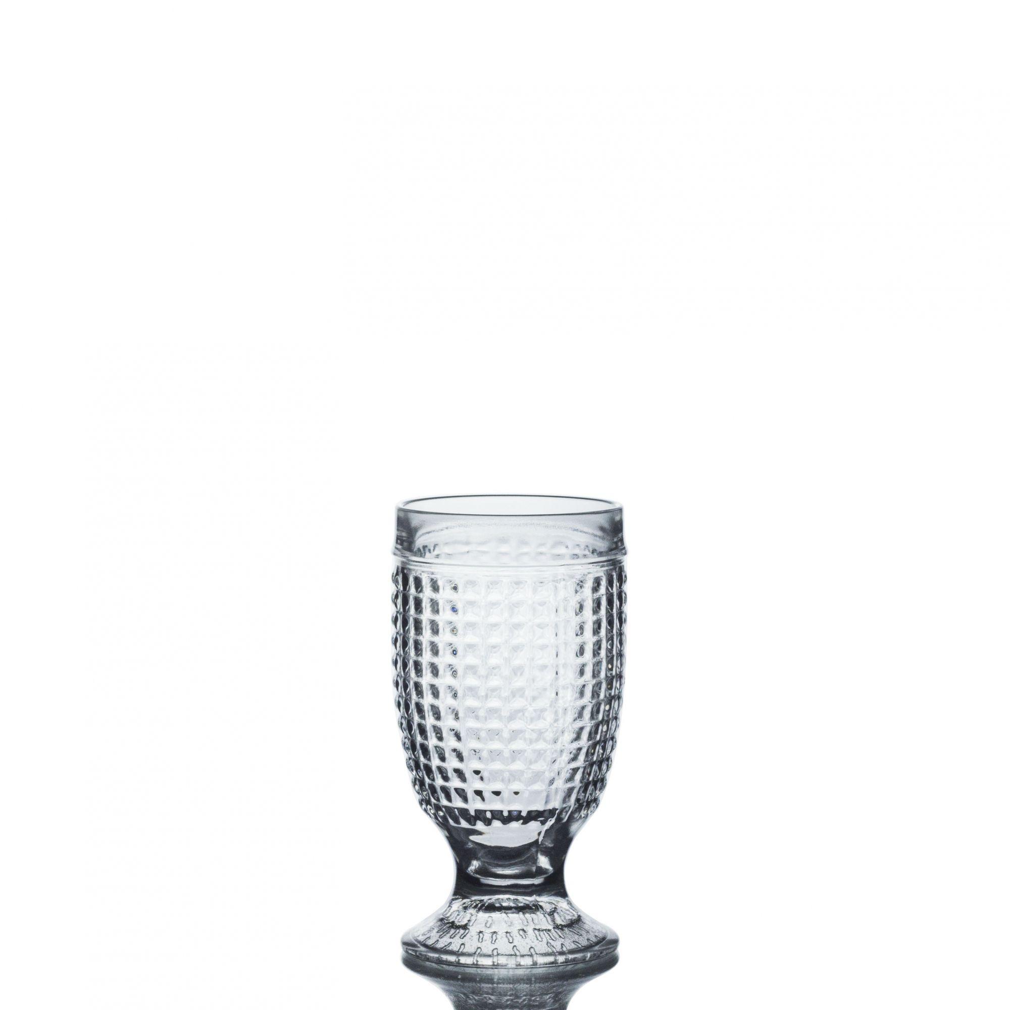 Taça De Agua Barroco Em Vidro 250ml Copo Vintage