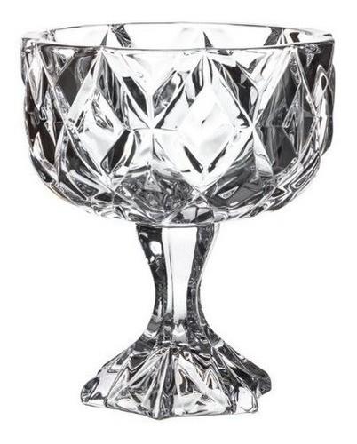 Taça De Vidro Coquetel Sobremesa Premium Diamante 11x11cm