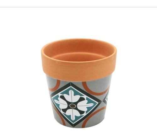 Vasinho Decorativo De Cerâmica Estampa Étnica Geométrica N2