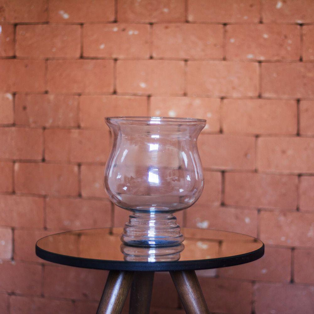 Vaso Bahamas De Vidro Para Decoração 25cm Festas Casamentos
