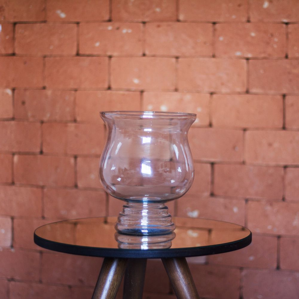 Vaso Bahamas De Vidro Para Decoração 32cm Festas Casamentos