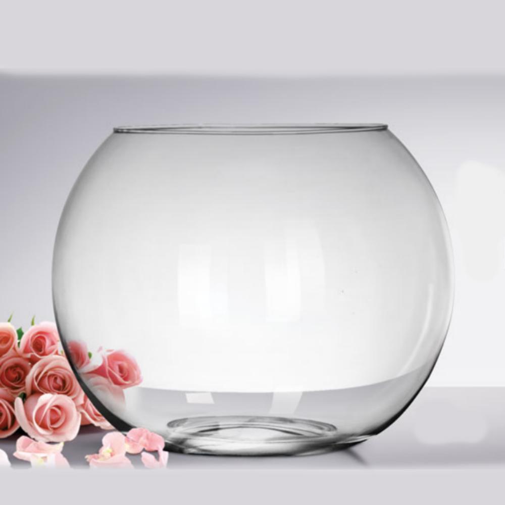 Vaso De Vidro Aquario Redondo Gigante 30 Litros
