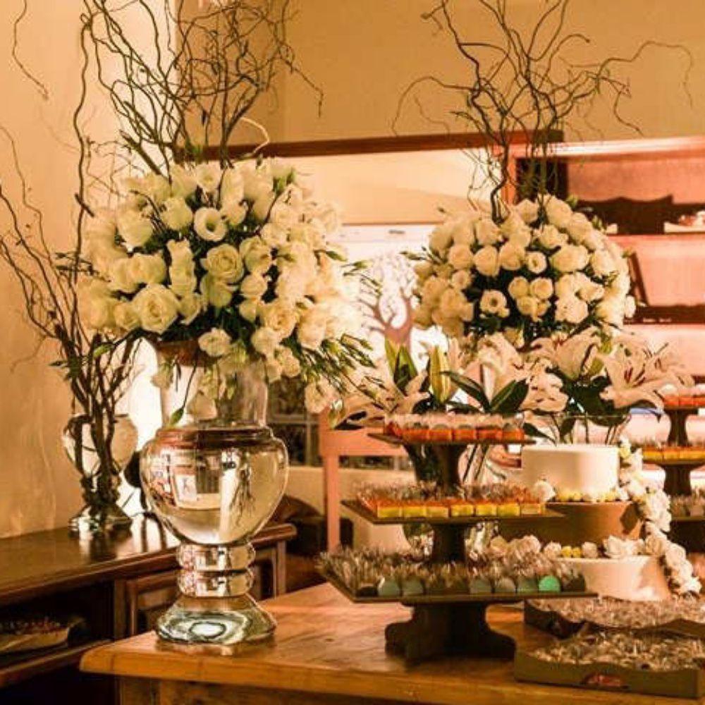 Vaso De Vidro Itália Decoração Festas Casamentos 35cm