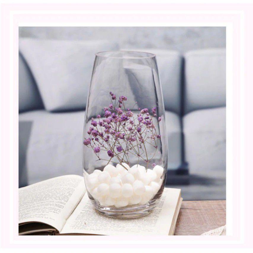 Vaso De Vidro Oval Premium Arranjo Flores Decoração 6mm
