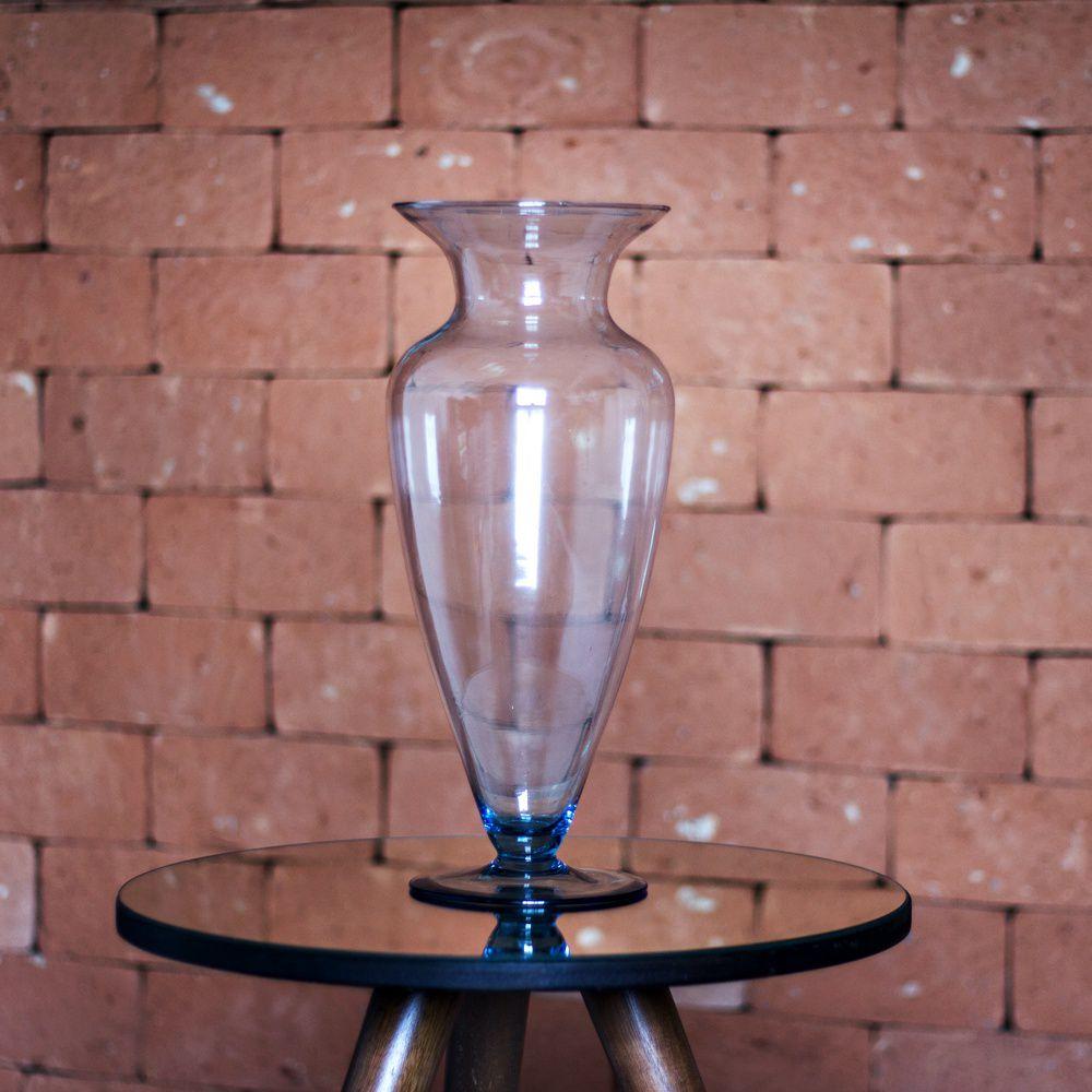 Vaso De Vidro Sevilha 40cm Para Decoração Casamento Flores
