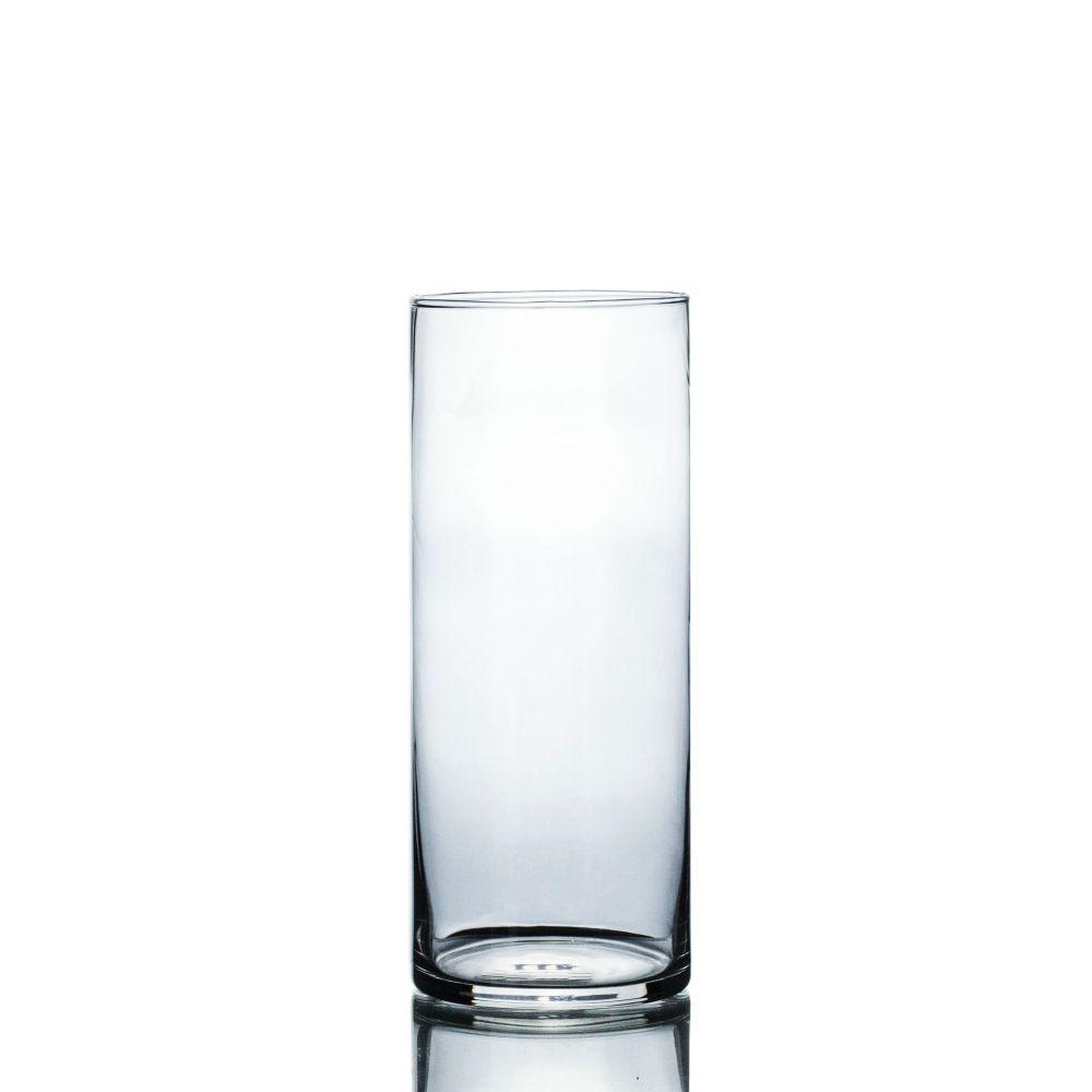 Vaso De Vidro Tubo Transparente 10x25cm