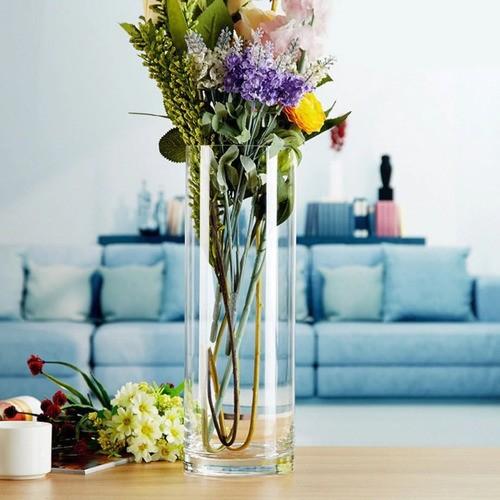 Vaso Decorativo De Vidro Arranjos Tubo Cilindro 12x35cm