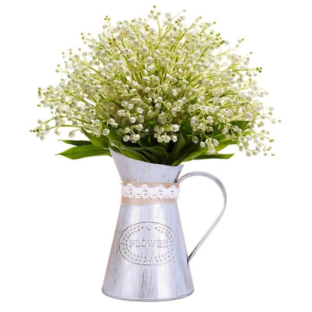 Vaso metal Rústico Plantas Flowers  Jardim 16x10