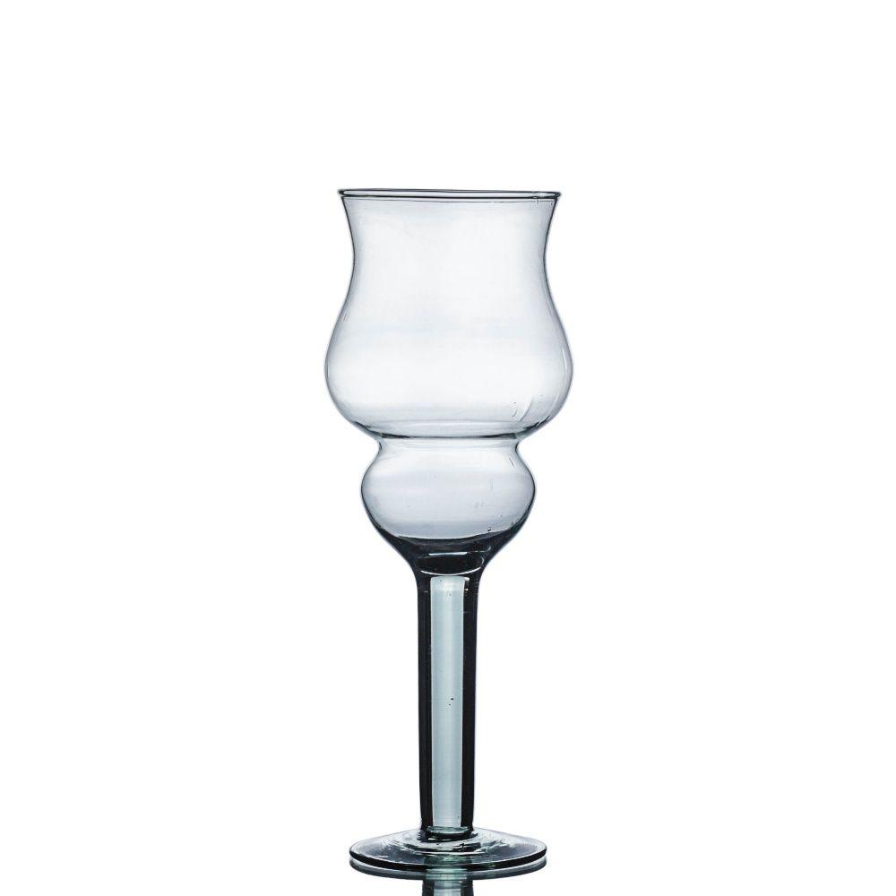 Vaso Taça Castiçal Napoli 25cm De Vidro Decoração Casamento