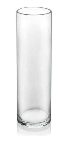 Vaso Tubo Copo Cilindro Solitário De Vidro 25x6cm