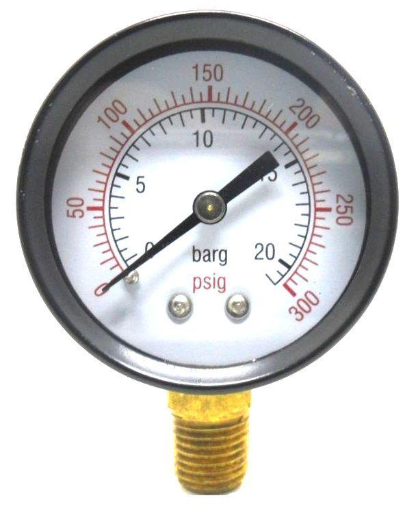 Manômetro Ø 53mm Vertical 1/4