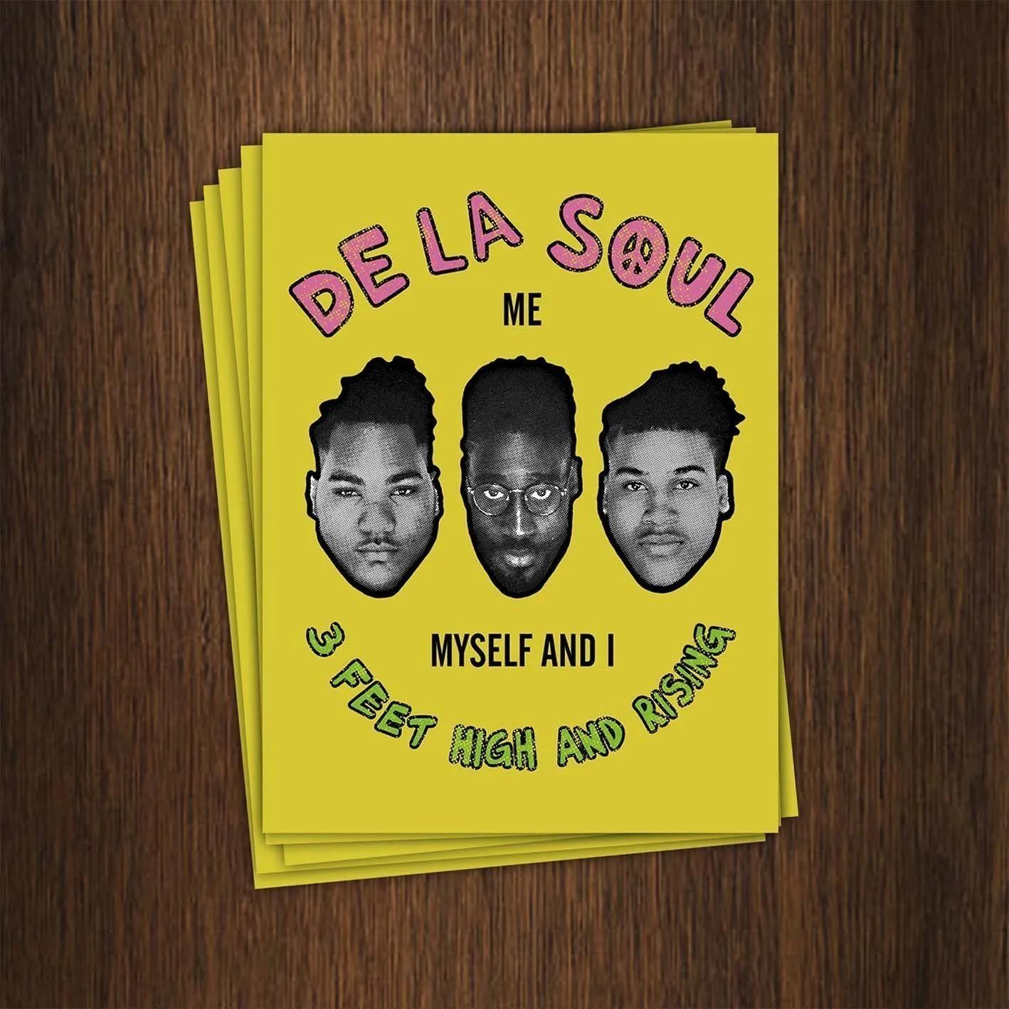 Adesivo 7x9,5cm - De La Soul