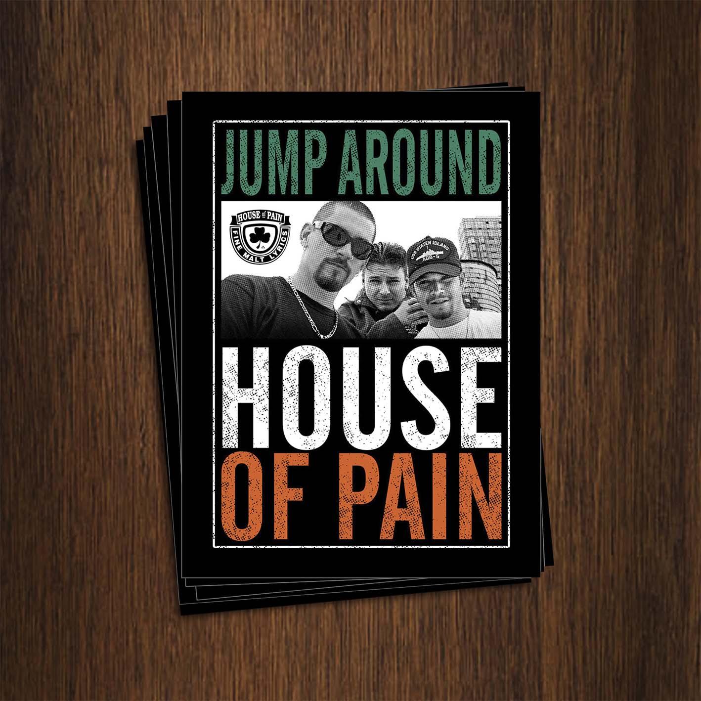 Adesivo 7x9,5cm - House Of Pain