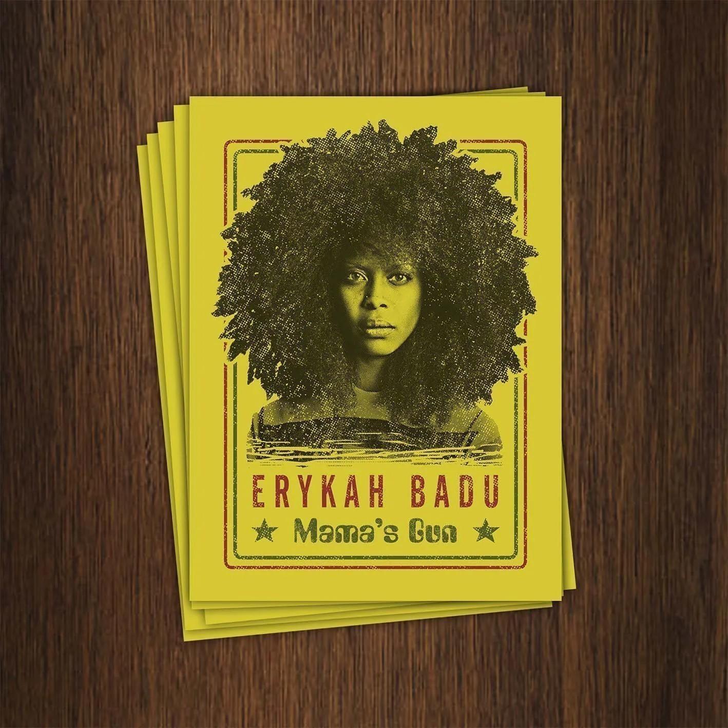 Adesivo 7x9,5cm - Erykah Badu