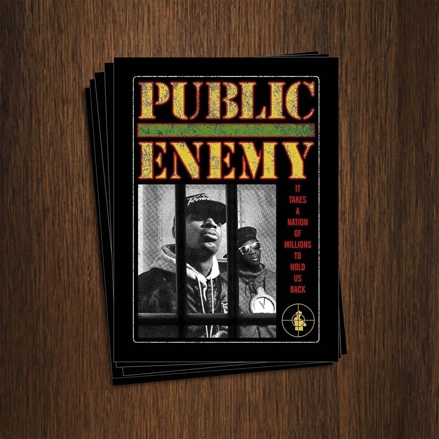 Adesivo 7x9,5cm - Public Enemy