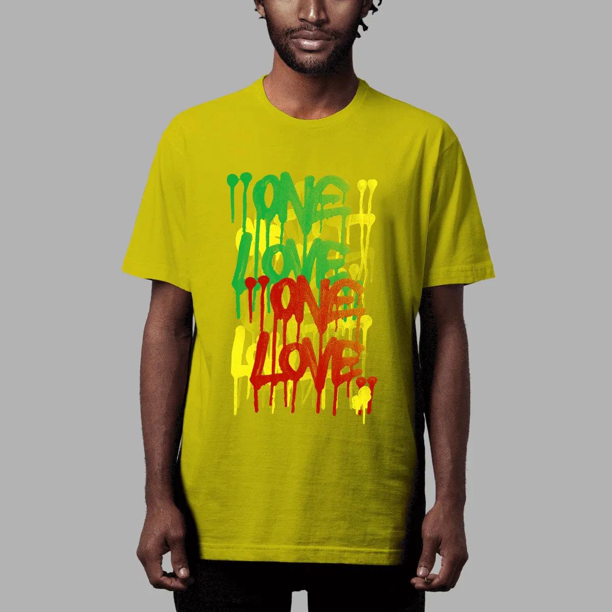 Camiseta Amply x Ment: One Love Amarelo