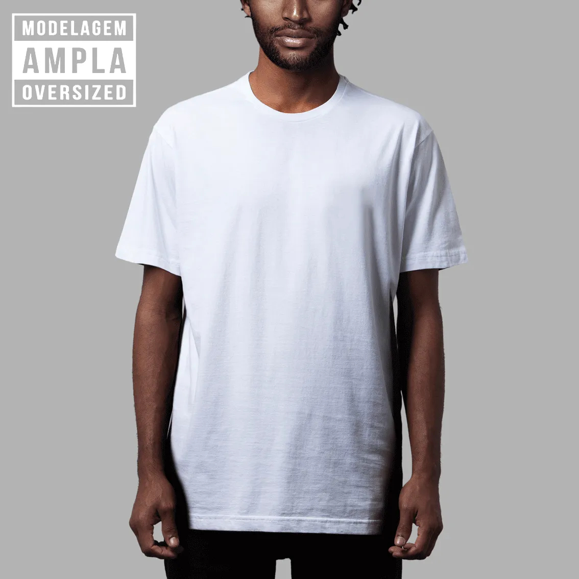 Camiseta Básica Oversized Branca