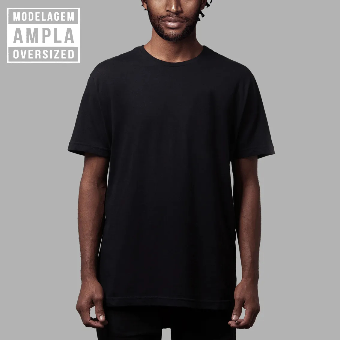 Camiseta Básica Oversized Preta