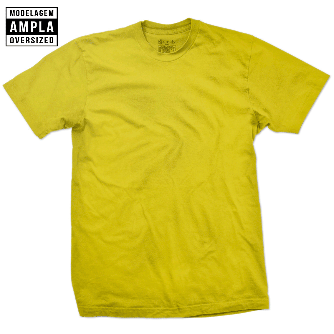 Camiseta Básica Oversized Amarela