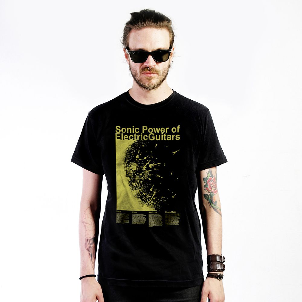 Camiseta Electric Guitars Preto