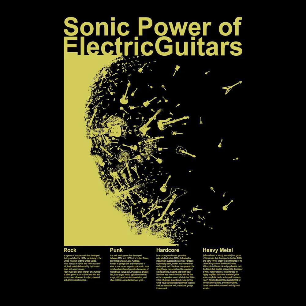 Camiseta Electric Guitars Preto