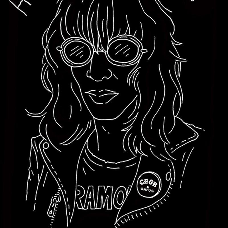 Camiseta Feminina Joey Ramone