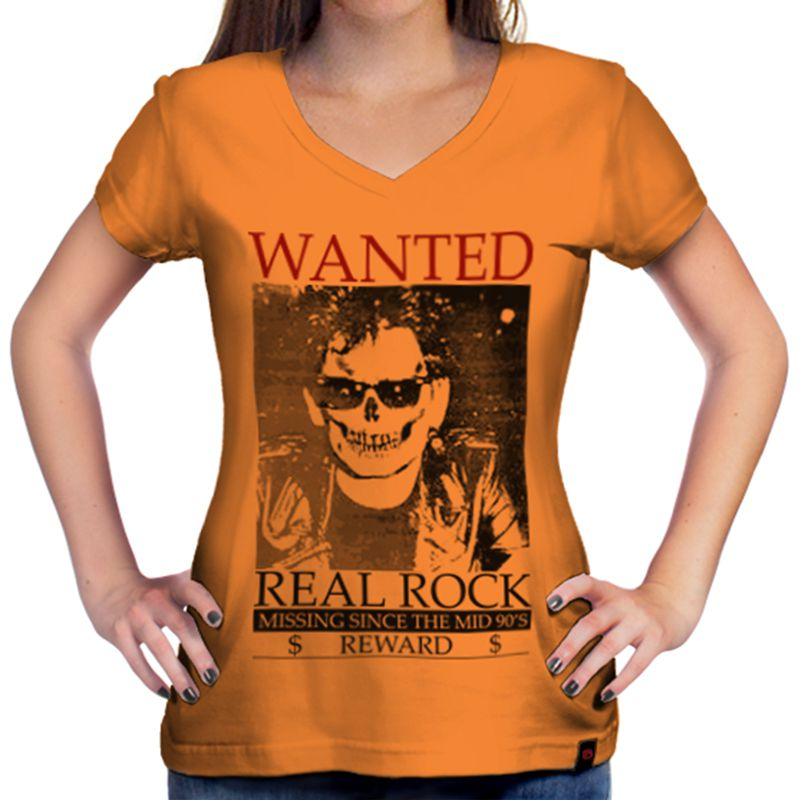 Camiseta Feminina The Wanted Laranja