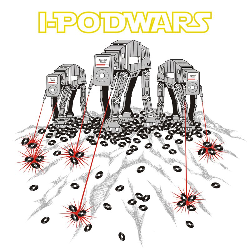 Camiseta Ipod Wars