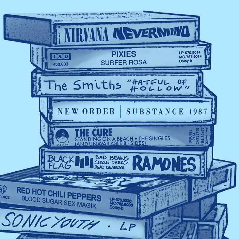 Longet Feminina Tapes Azul