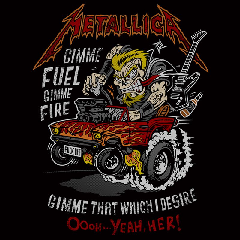Camiseta Metallica - Muscle Car