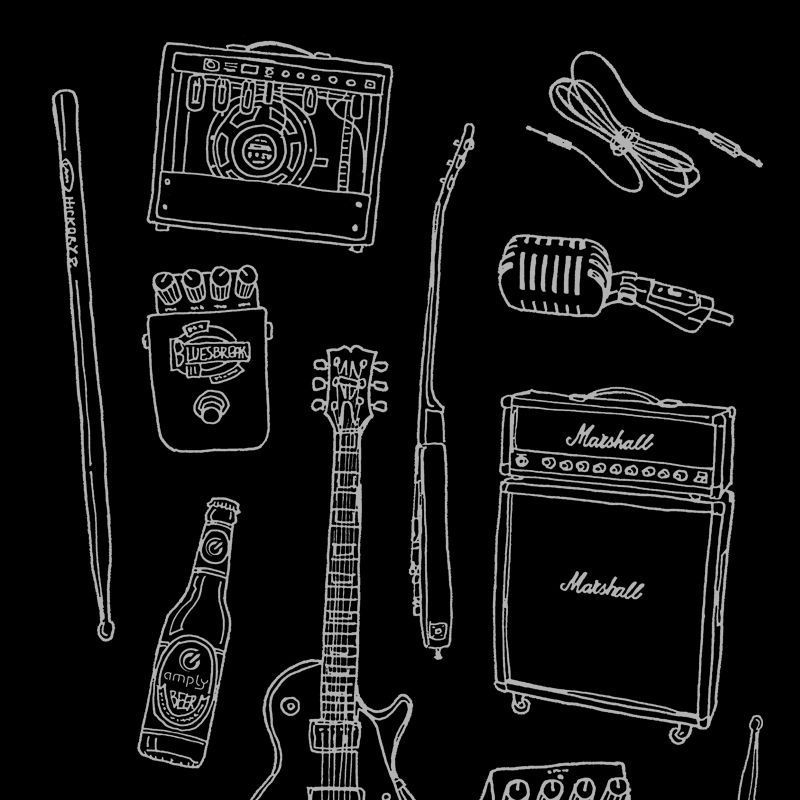 Camiseta Rock Instruments