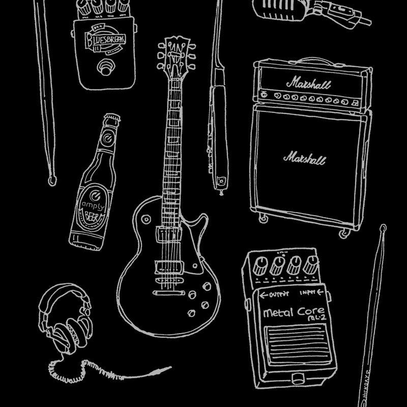 Camiseta Rock Instruments
