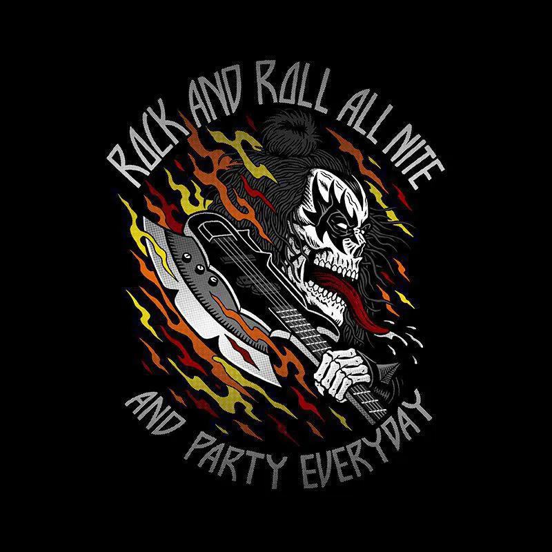 Camiseta Rock'n'Roll All Nite