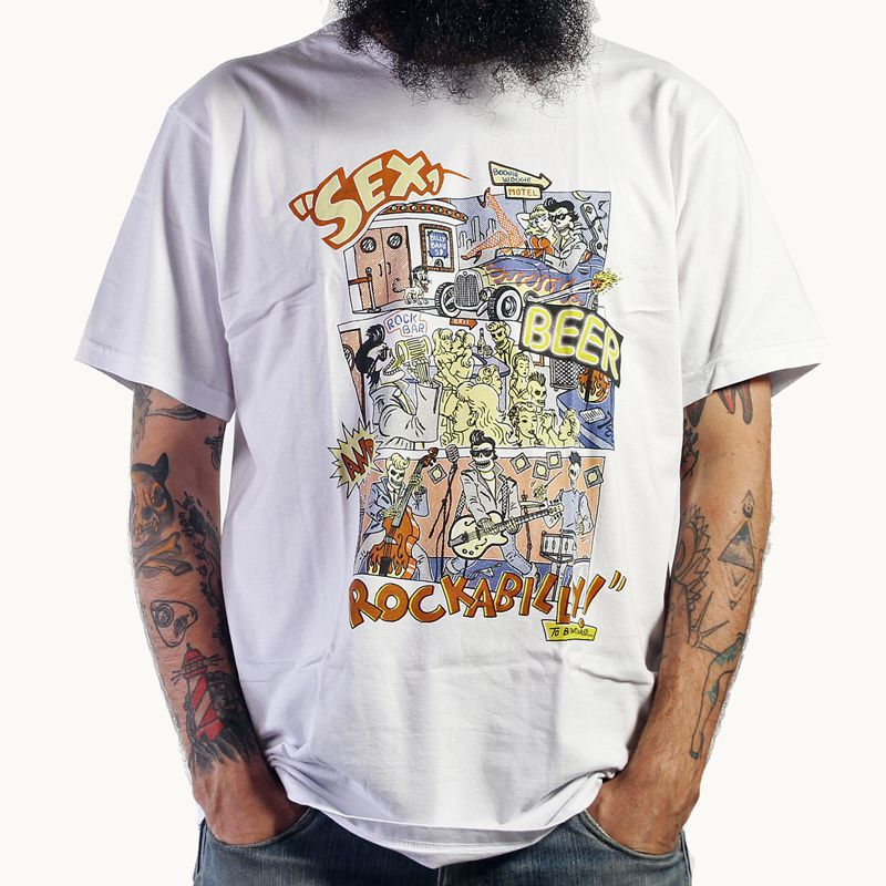 Camiseta Rockabilly Branco