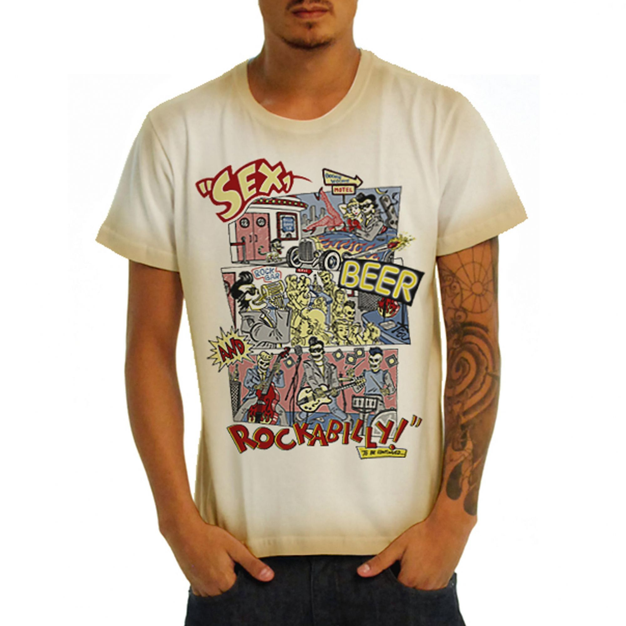 Camiseta Rockabilly Vintage