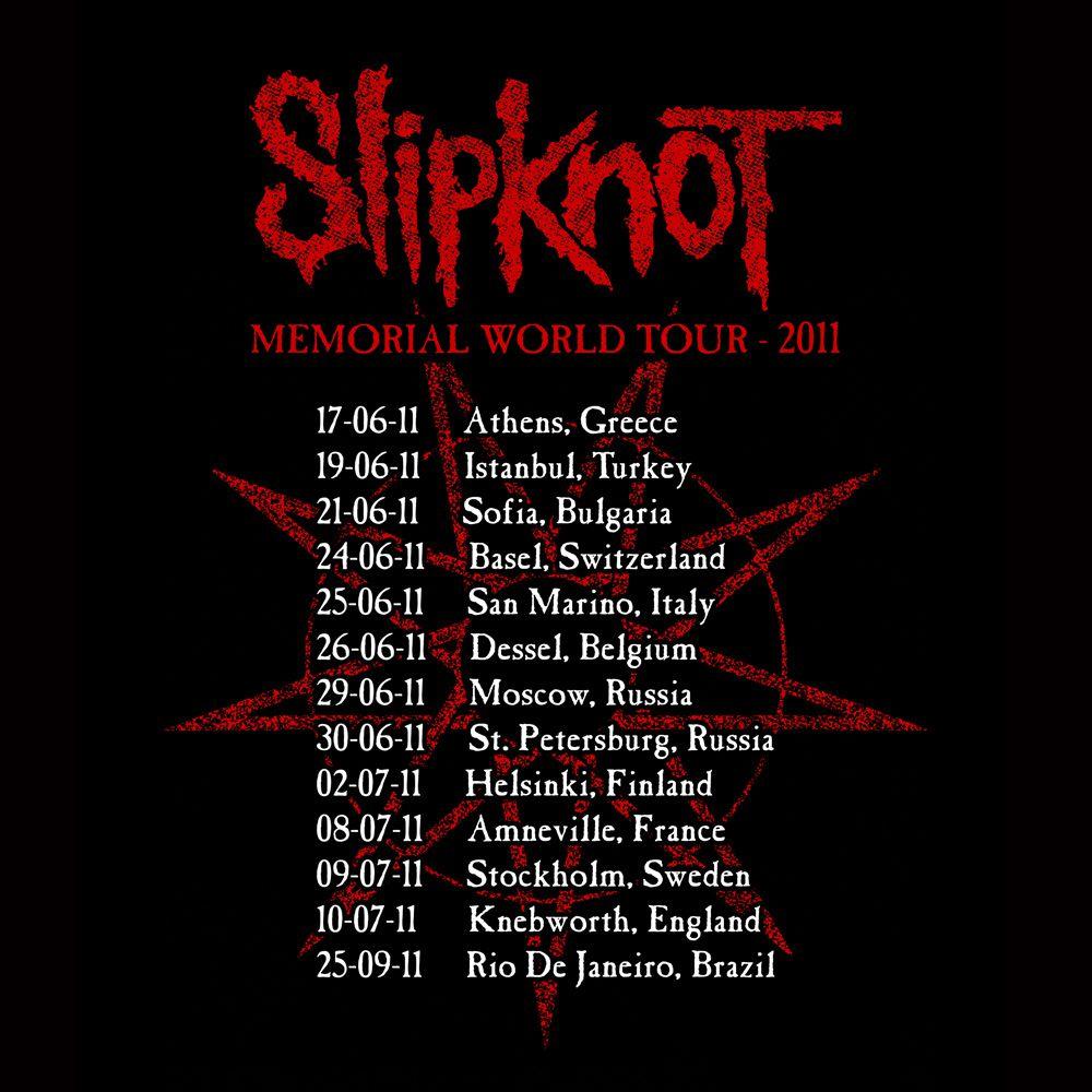Camiseta Slipknot Memorial Tour