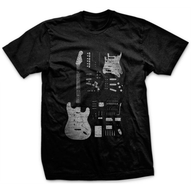 Camiseta Stratocaster Preto