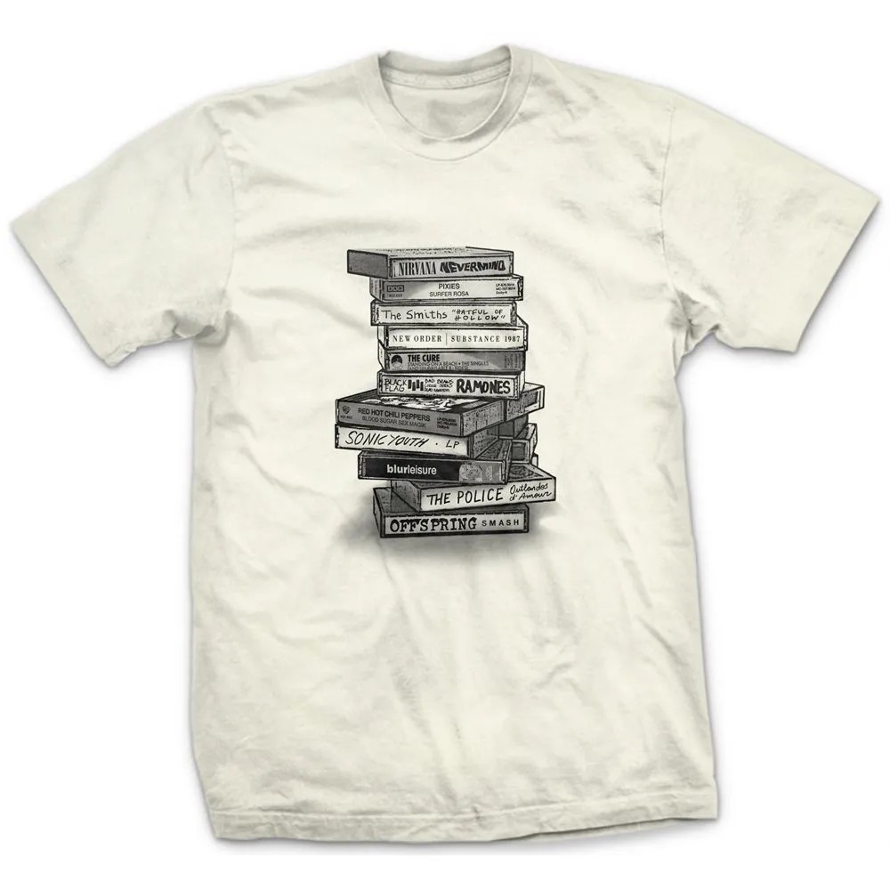 Camiseta Tapes Rock Off White
