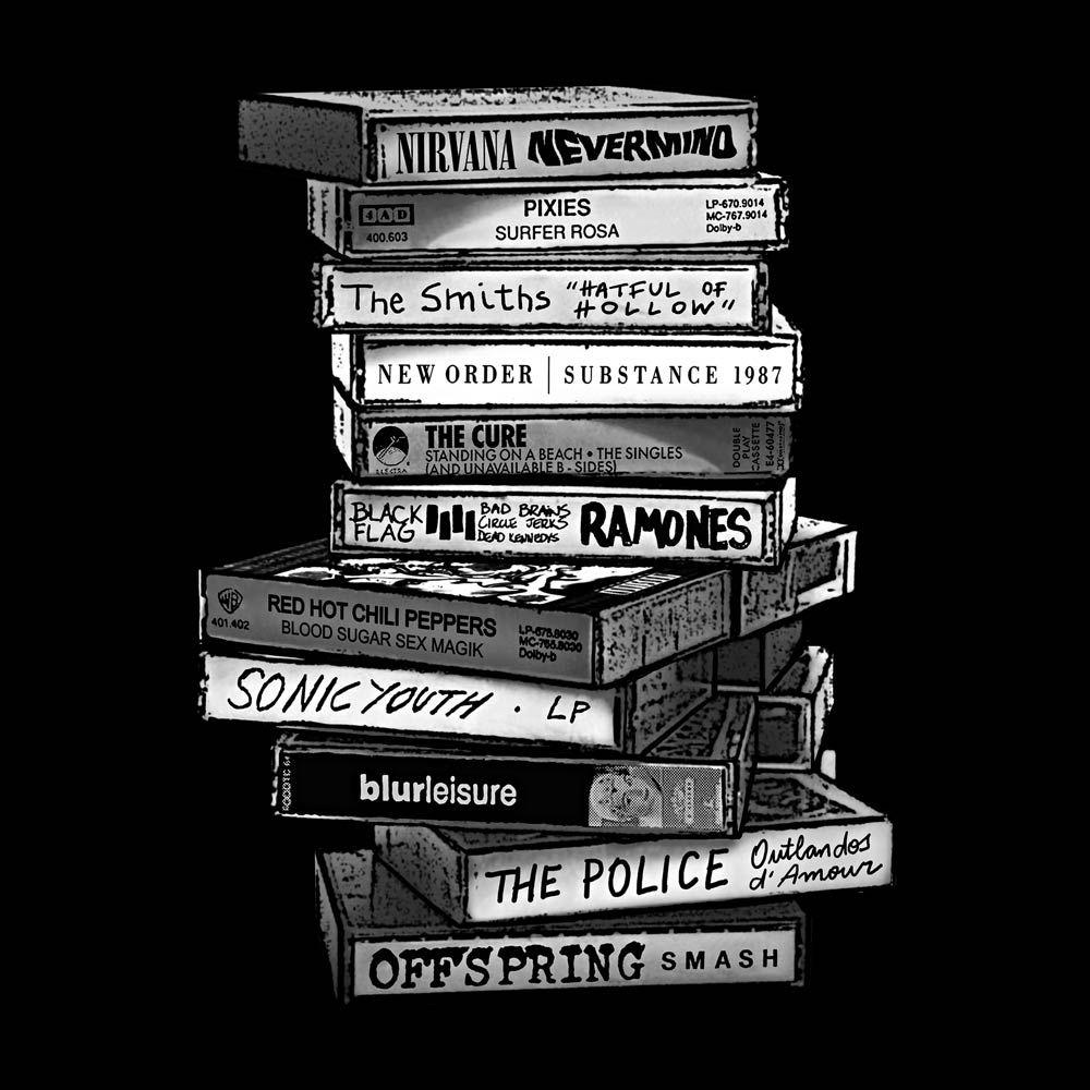 Camiseta Tapes Preto