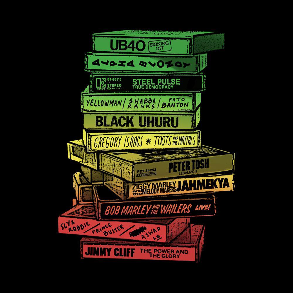 Camiseta Tapes Reggae Preta