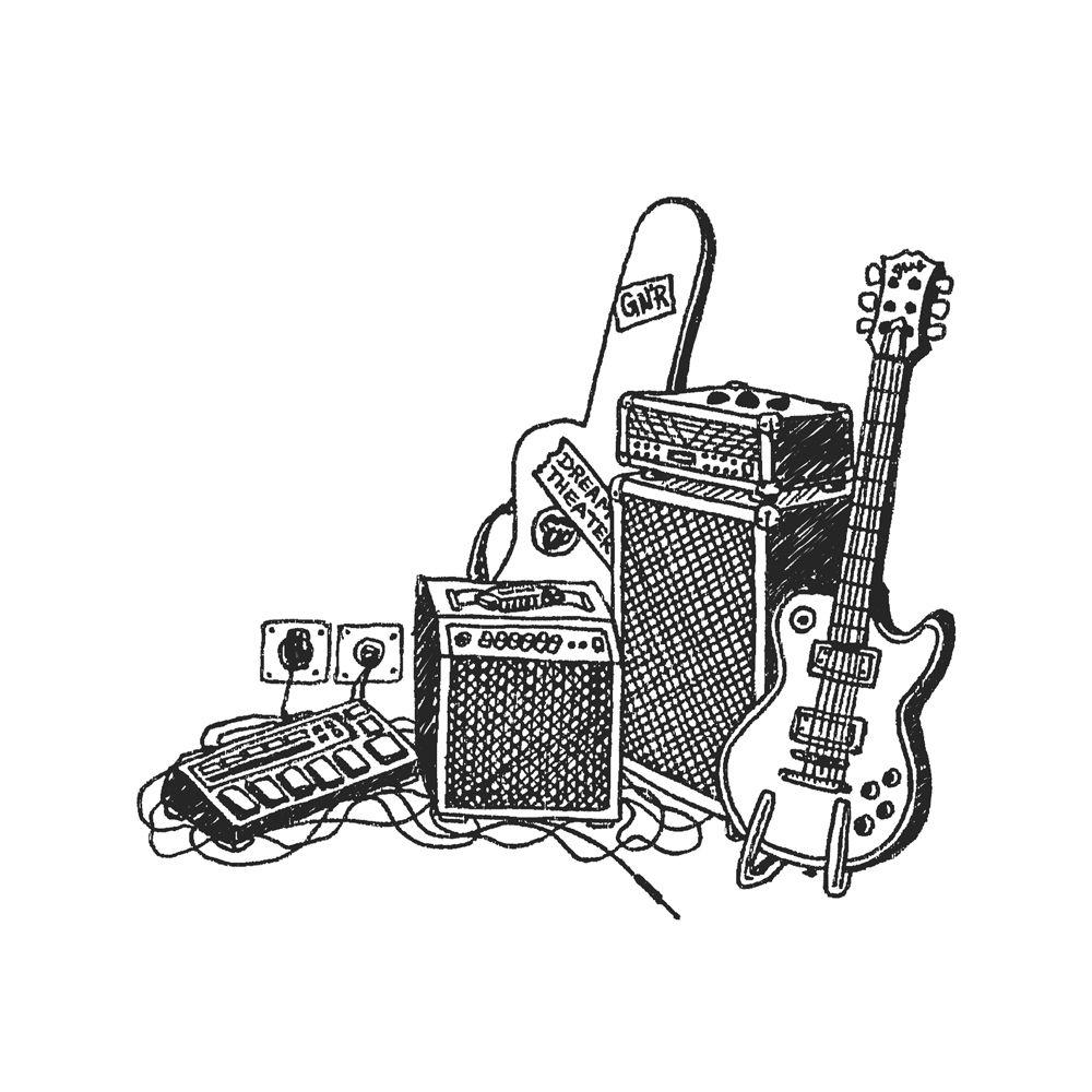 Caneca Freehand Guitar