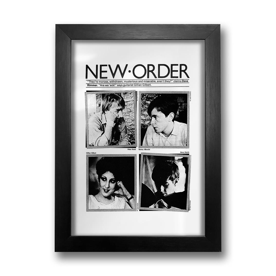 Quadro Flyer New Order
