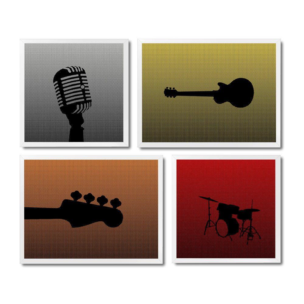 Kit Quadros Classic Rock