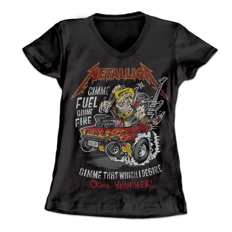 Longet Feminina Metallica - Muscle Car