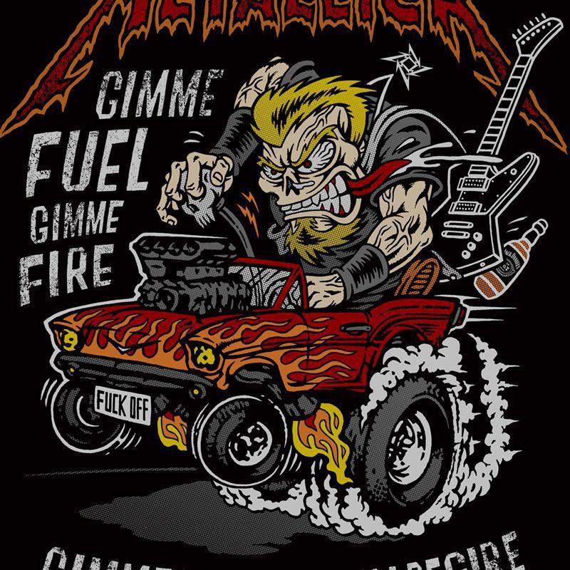 Longet Feminina Metallica - Muscle Car