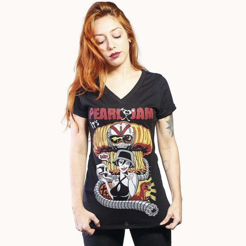 Longet Feminina Pearl Jam