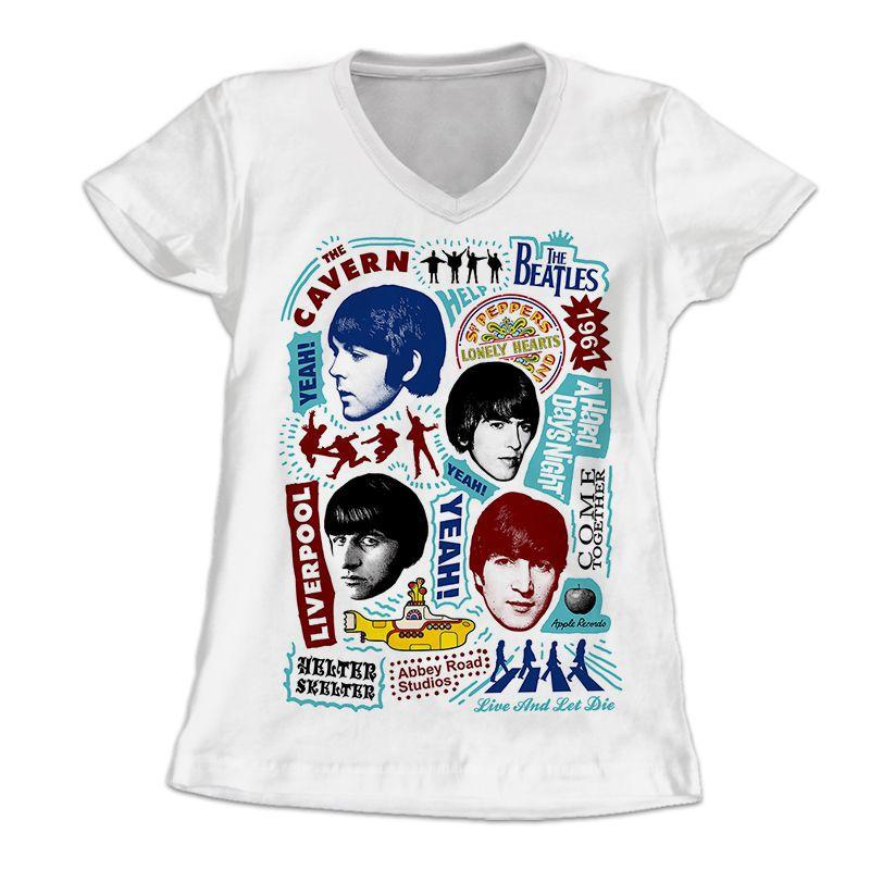 f4488fffb13 Longet Feminina The Beatles - Amply Camisetas - Camisetas e Quadros ...