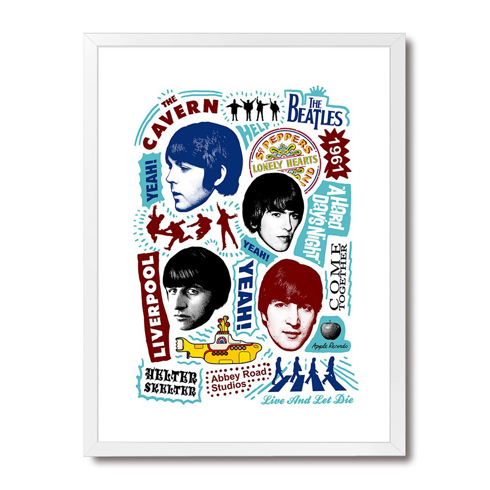 Poster/Quadro Beatles Songs