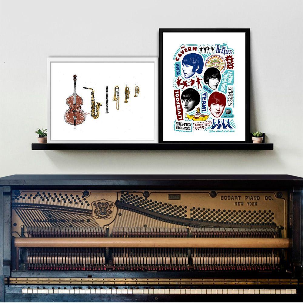 Poster/Quadro Beatles Songs