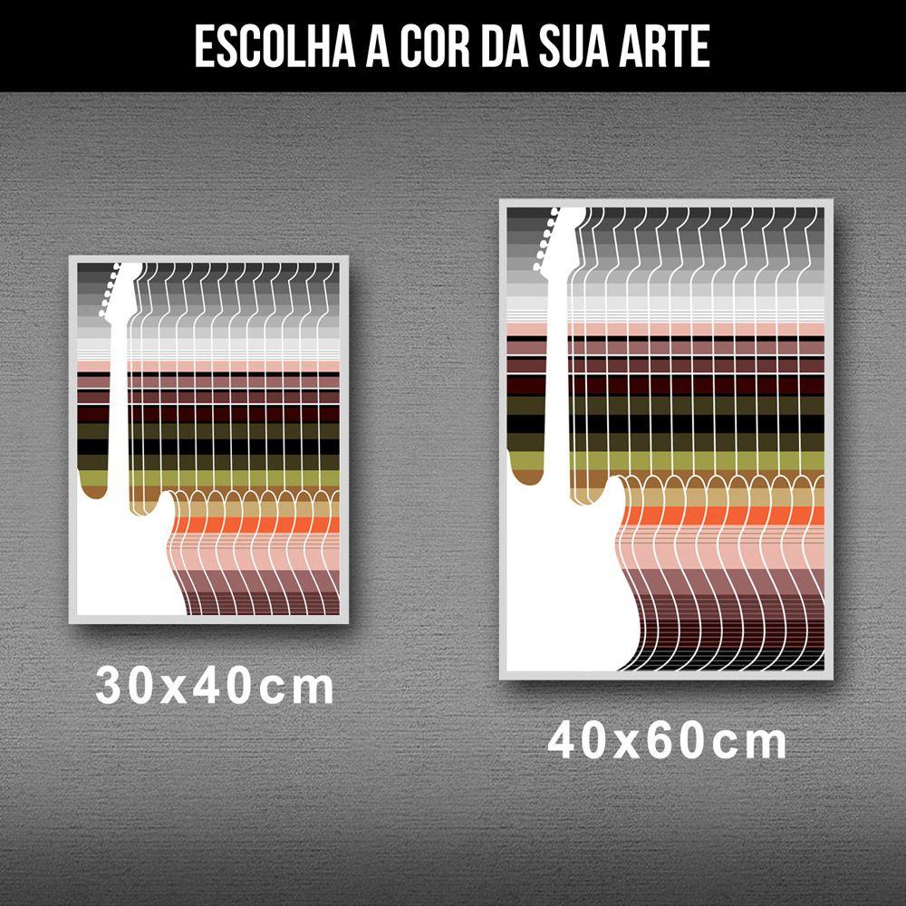 Poster/Quadro Guitar Stripes